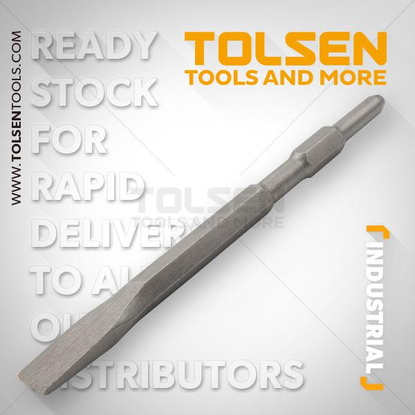 17x280x25 Hex Flat Chisel Tolsen Brand 75451