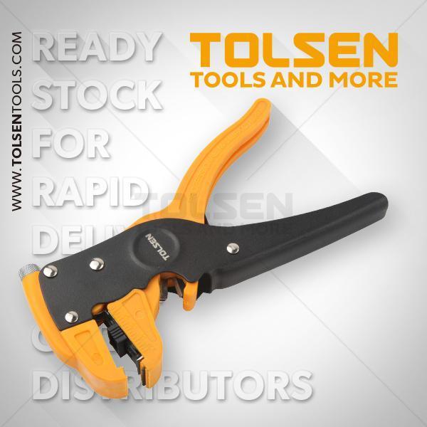 0.5-6mm2 Adjustable Automatic Wire Stripper Tolsen Brand 38050