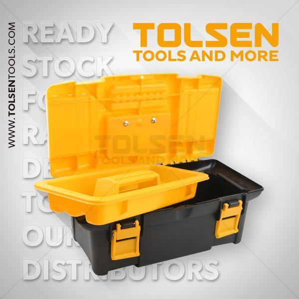340x180x130mm Plastic Tool Box Tolsen Brand 80190