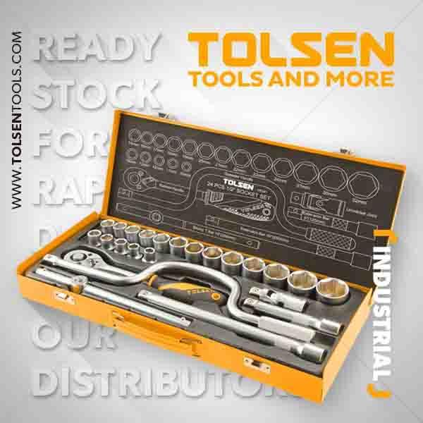1/2 inch 24pcs Socket Set Tolsen Brand 15141