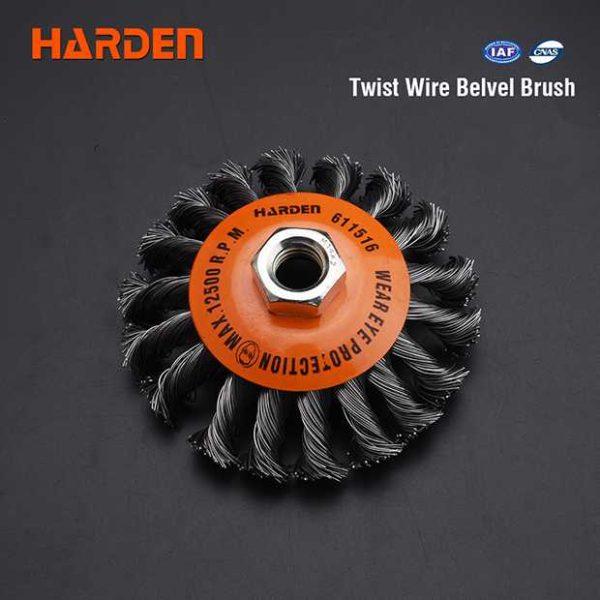 100mm Twist Wire Belvel Brush Harden Brand 611516