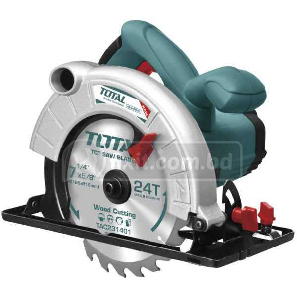 220-240V 50Hz 1600W 4800rpm Electric Circular Saw and Cutter Total Brand