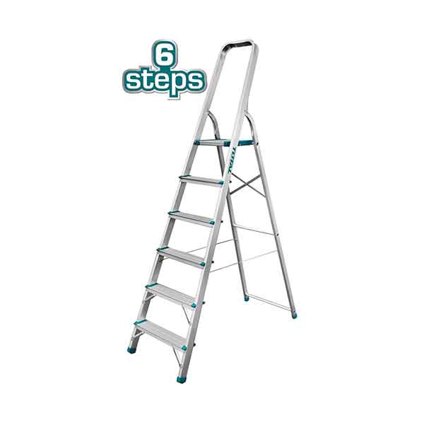 6 Step Aluminium Household Ladder Total Brand THLAD06061
