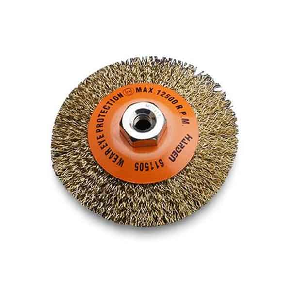 "100mm (4"") Crimped Wire Bevel Brush Harden Brand 611505"