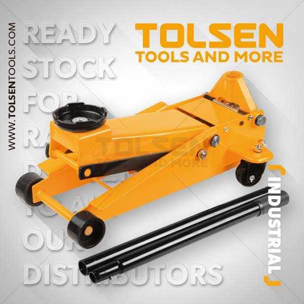 3 ton Heavy Duty Hydraulic Trolley Jack Tolsen Brand 65464