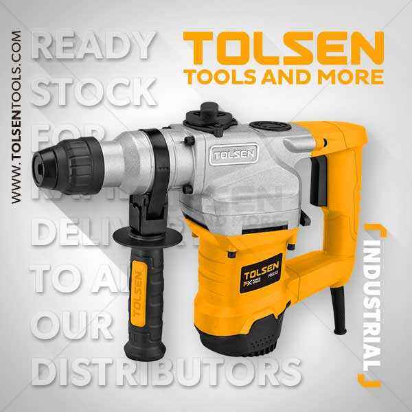 1100W 220V-240V 50Hz 900rpm Rotary Hammer Drill Machine Tolsen Brand 79512
