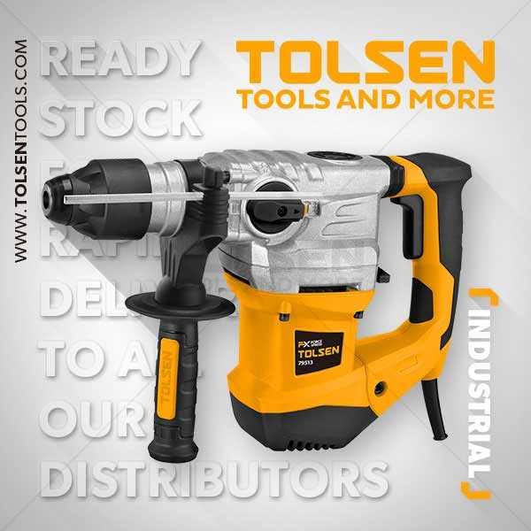 1500W 220-240V 850rpm Rotary Hammer Drill Machine Tolsen Brand 79513