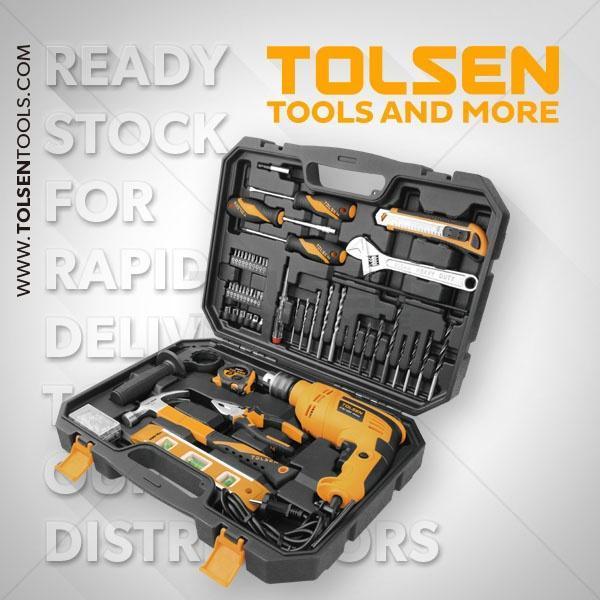 710 W Hammer Drill Machine Tolsen Brand 79685 with 95pcs Hand Tool Set