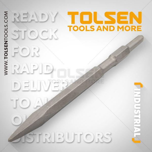 17x280mm Hex Point Chisel Tolsen Brand 75450