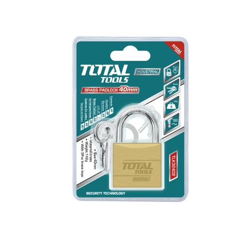 50MM Heavy Duty Brass Padlock Total Brand TLK32502