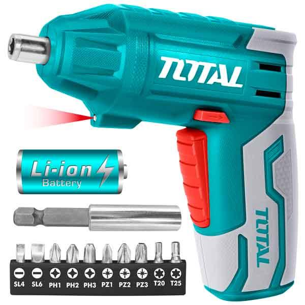 4V Cordless Electric Screwdriver Lithium  Total  Brand TSDLI0401