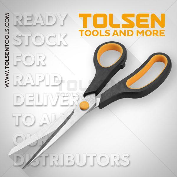 """200mm- 8"""" Household Scissors Tolsen Brand 30044"""