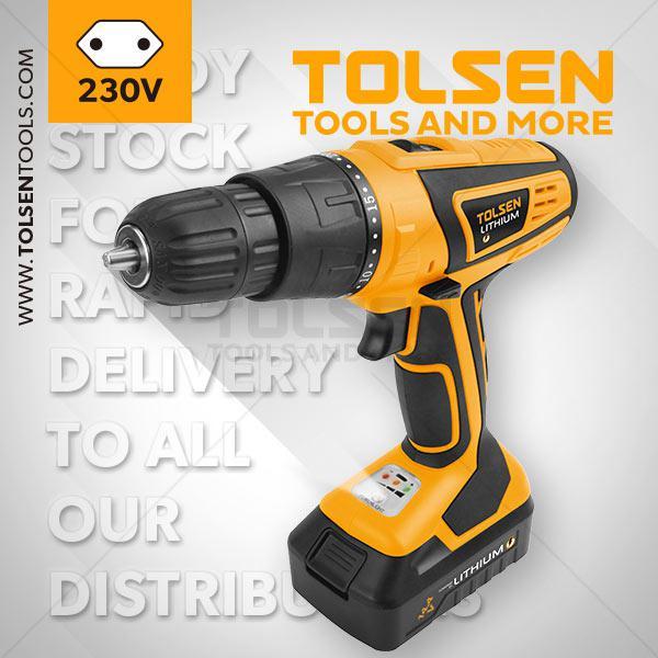 14.4V Li-Ion Cordless Drill Tolsen Brand 79016