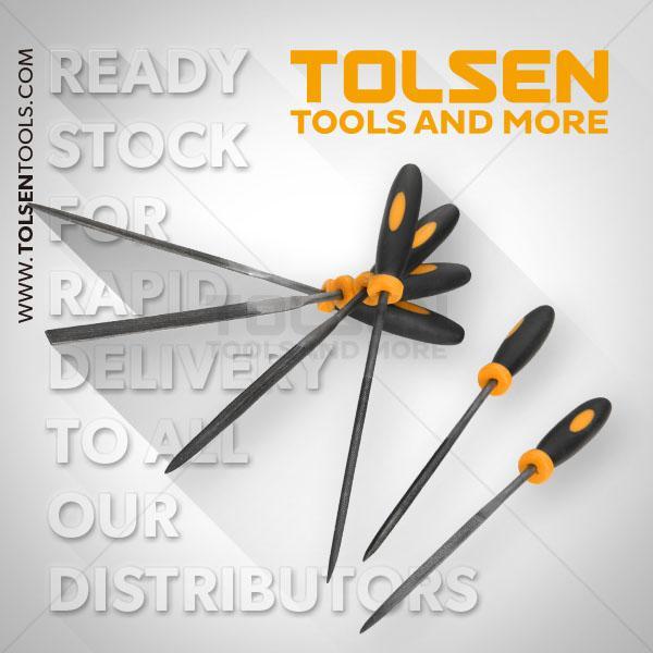 3x100mm 6Pcs Needle Files Set Tolsen Brand 32046