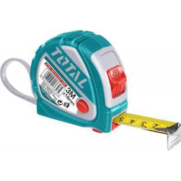 3M x 16mm Steel Measuring Tape Total Brand TMT126031