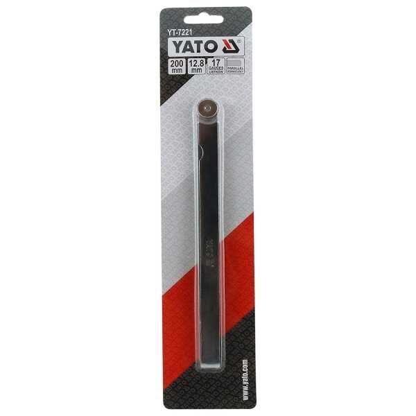0.02mm to 1.0mm 17 Gauge Feeler Gauge Yato Brand