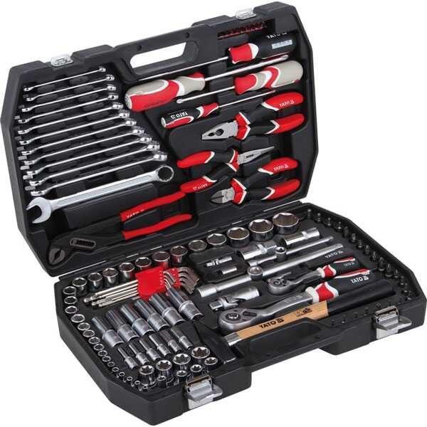 122 Pcs Tool Set 1/4 -12 Industrial Yato Brand (Poland) Yt-3890