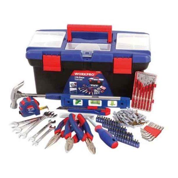 170 Pcs Home Tool Set In Plastic Box Workpro Brand W009002