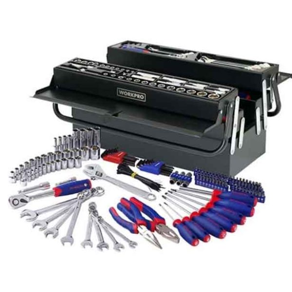183 PC Tool Set With Tool Box Workpro Brand W009038
