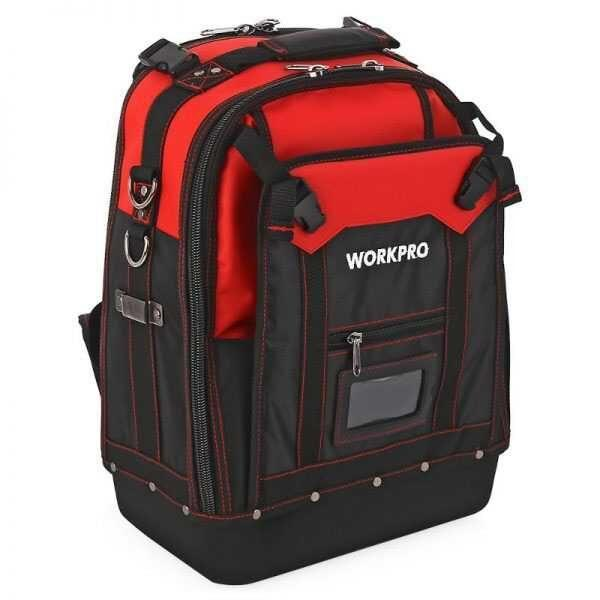 12 Inch Water Proof Multifunction Backpack Tool Bag Workpro Brand W081065