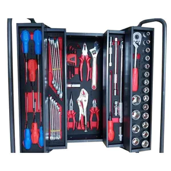 21 Inch Professional Steel Tool Box with 58pcs Kit Jetech Brand TB-58S