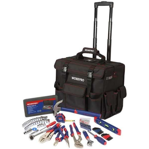 176 Pcs Tool Set With Trolley Bag Workpro Brand W009029
