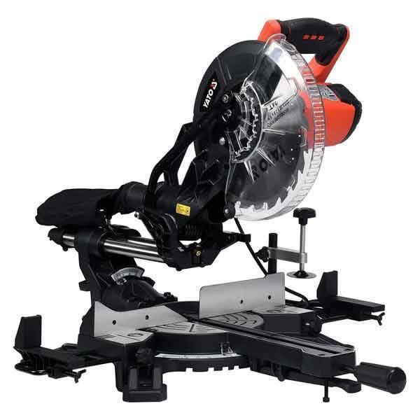 1800W 255mm C/W Laser Guide Sliding Miter Saw Yato Brand YT-82173