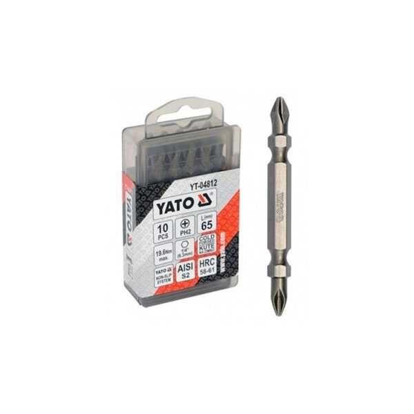 10 pcs Double Head Screwdriver Bits Yato Brand YT-04812