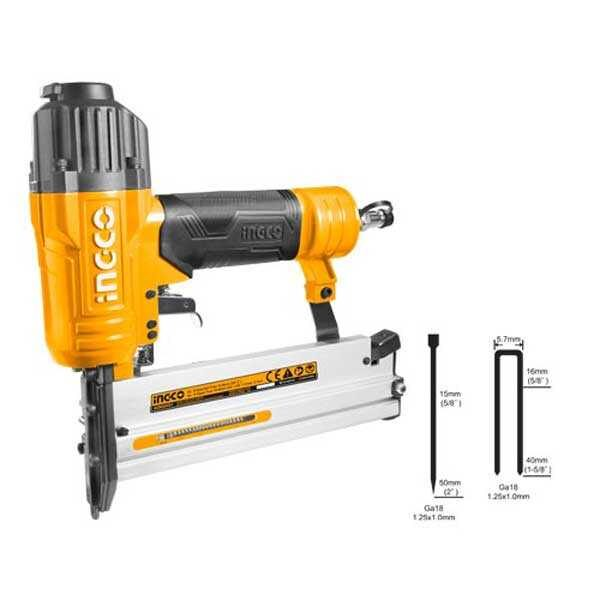 15-50mm Industrial 2 IN 1 combo Air brad nailer Ingco Brand ACN50401