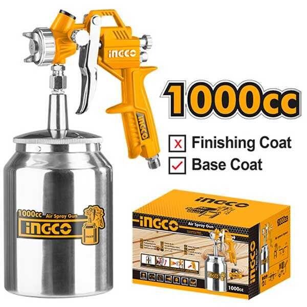 1000cc Industrial Air Spray Gun Ingco Brand ASG3101