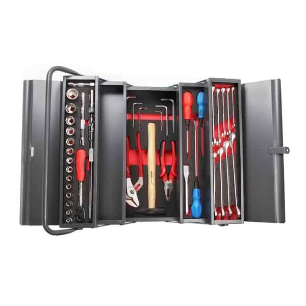 18 Inch Professional Steel Tool Box with 42pcs Kit Jetech Brand TB-42S