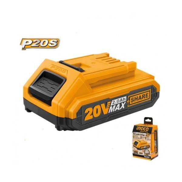 20v 2.0Ah Rechargeable Li-ion Battery Pack Ingco Brand FBLI2001