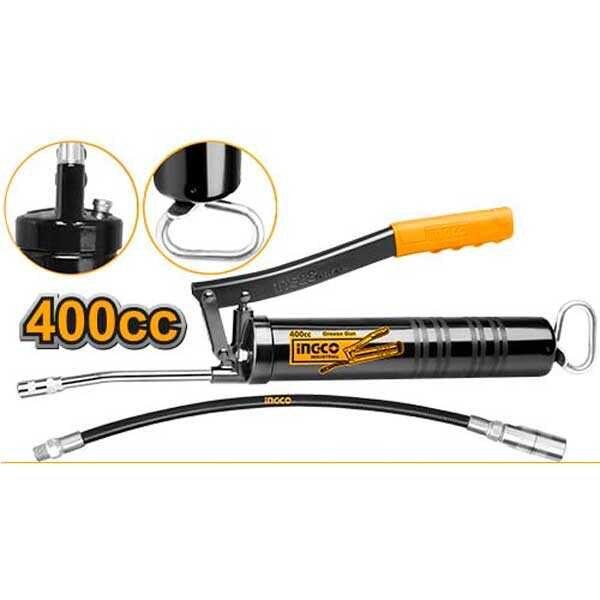400CC Heavy Duty Industrial Grease Gun Ingco Brand GRG015001