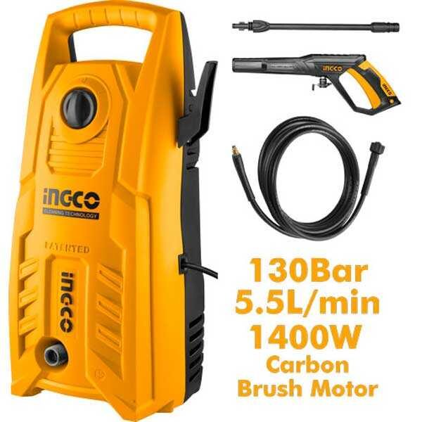 220-240V 50/60Hz 130bar 1400W High Pressure Washer Ingco Brand HPWR14008