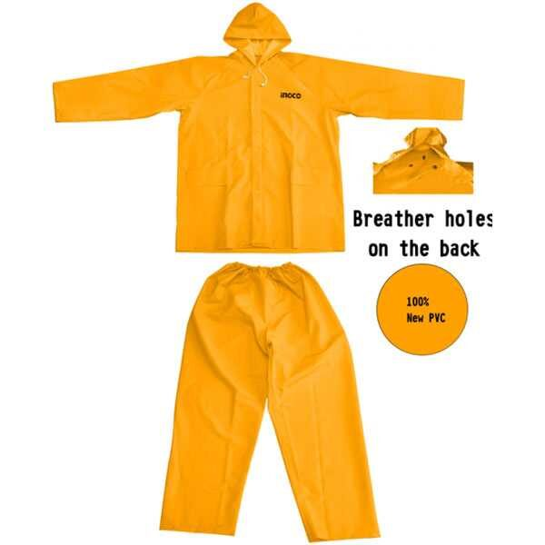 Rain Suit Coat Set Ingco Brand HRCTSKT031.M /L/XL