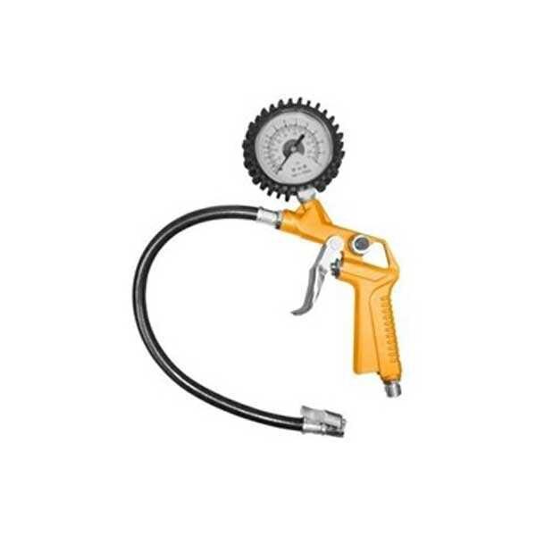 0-174PSI 12Bar Oil-immersed Tire Pressure Gauge Ingco Brand ATG0601