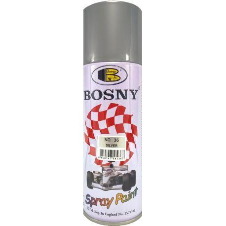 400 ml Silver Color Spray Paint Bosny Brand