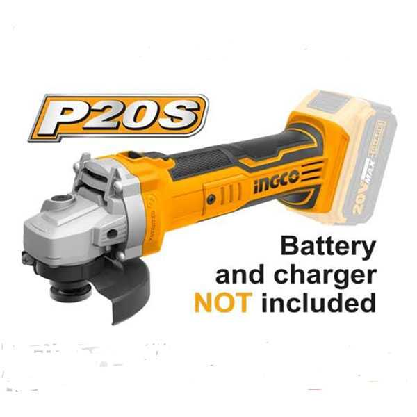 20V 100mm Angle Grinder Ingco Brand CAGLI1001 (Without Battery & Charger)