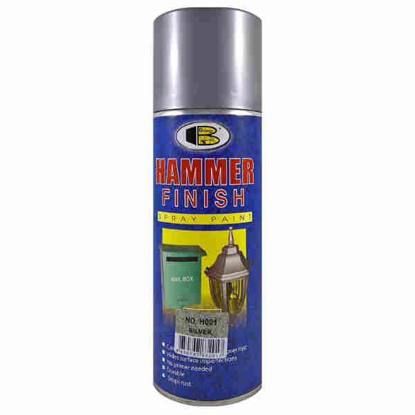 400ml Hammer Finish Silver Color Spray Paint Bosny Brand