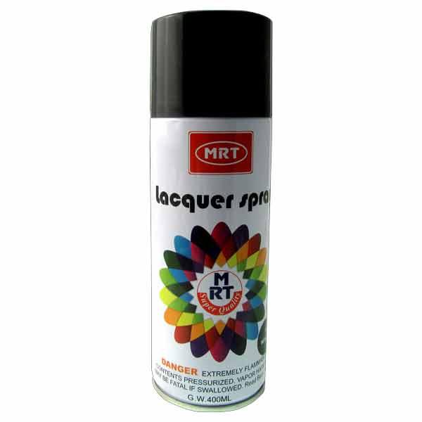400 ml Matt Black Color Spray Paint MRT Brand