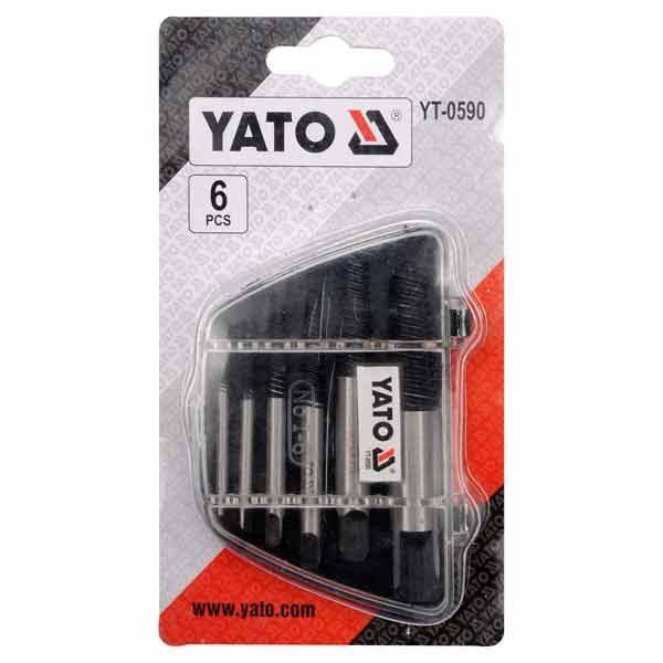 6 Pcs Screw Extractor Set Yato Brand YT-0590
